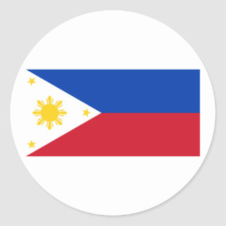 Philippine Flag, Philippine Islands National Flag Classic Round Sticker
