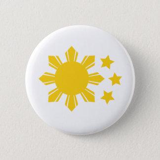 Philippine Flag - Proud to be Pinoy! 6 Cm Round Badge