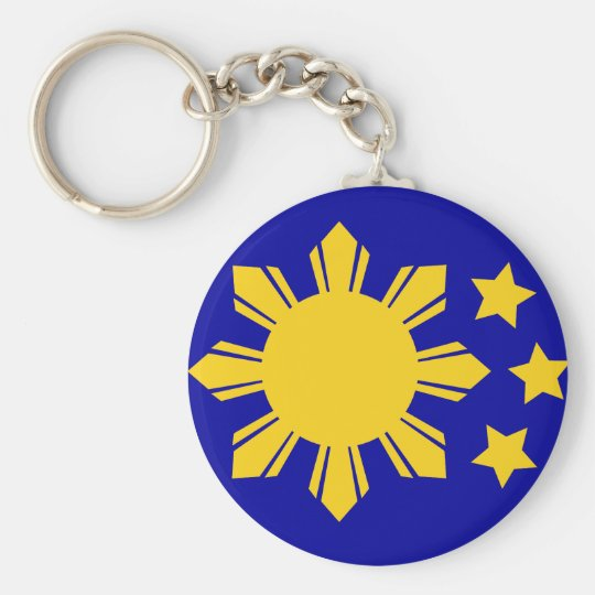 Philippine Flag - Proud to be Pinoy! Basic Round Button Key Ring