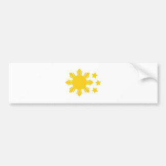 Philippine Flag - Proud to be Pinoy! Bumper Sticker