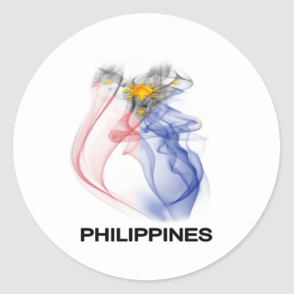 PHILIPPINE FLAG smoke Classic Round Sticker