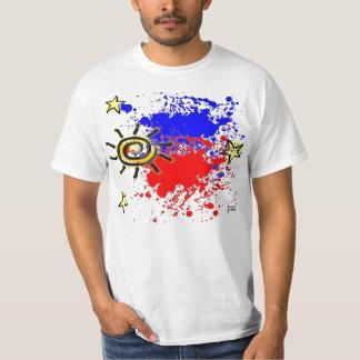 Philippine flag Splatter Tee Shirts