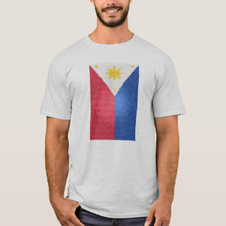 Philippine Flag Stained T-Shirt