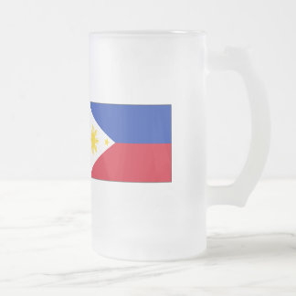 Philippine Flag T-shirts and Gifts Frosted Glass Mug