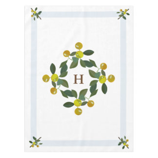Philippine Golden Lime Citrus Monogram Table Cloth Tablecloth