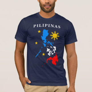 philippine map t-shirt