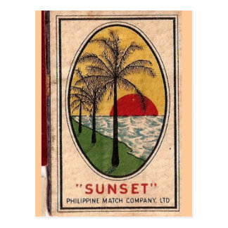 philippine matchbook cover circa 1940 postcard