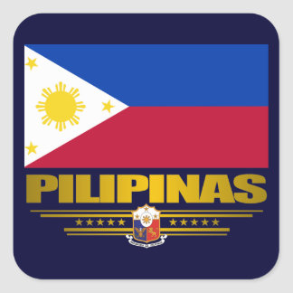 """Philippine Pride"" Square Sticker"