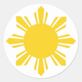 Philippine Sun Pinoy Sun Filipino Sun Round Stickers