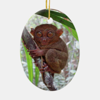 Philippine Tarsier - Oval Ornament