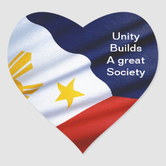 philippines A great society Heart Sticker
