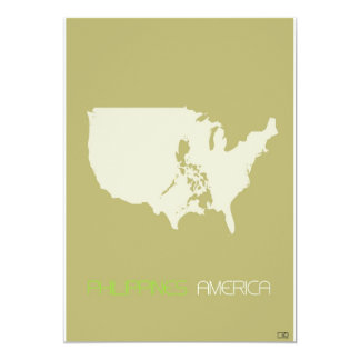 "Philippines American 5"" X 7"" Invitation Card"