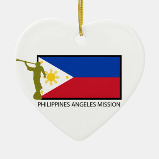 PHILIPPINES ANGELES MISSION LDS CTR CERAMIC HEART DECORATION