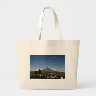 Philippines Bicol Mayon Volcano Photography Large Tote Bag