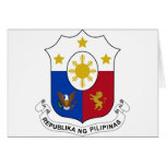 Philippines Coat of Arms Greeting Cards