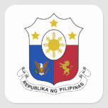 Philippines Coat of Arms Square Stickers