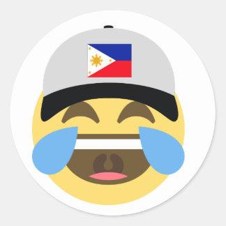 Philippines Emoji Baseball Hat Classic Round Sticker