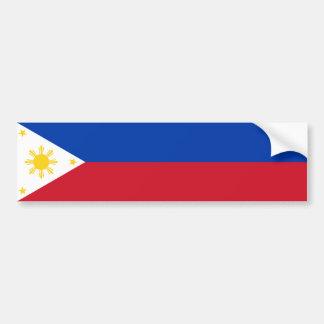 Philippines/Filipino Flag Bumper Sticker Car Bumper Sticker