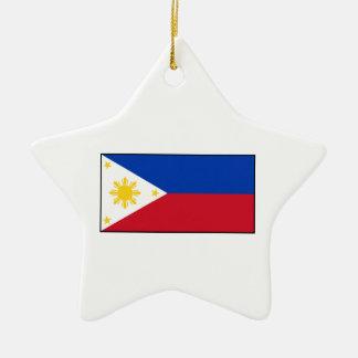 Philippines – Filipino Flag Christmas Ornament