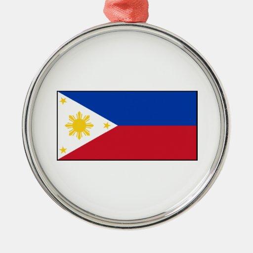 Philippines – Filipino Flag Christmas Tree Ornament