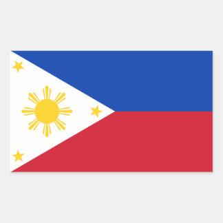 Philippines/Filipino Flag Rectangular Sticker