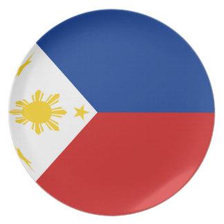 Philippines Fisheye Flag Plate
