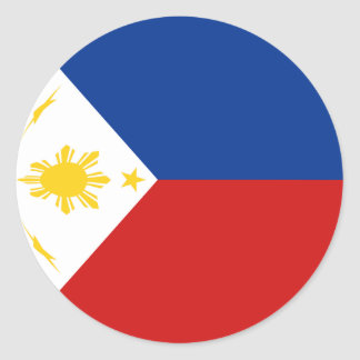 Philippines Fisheye Flag Sticker