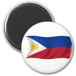 Philippines Flag 6 Cm Round Magnet
