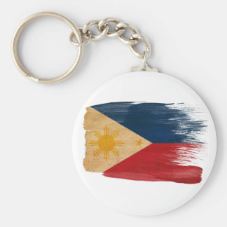 Philippines Flag Basic Round Button Key Ring