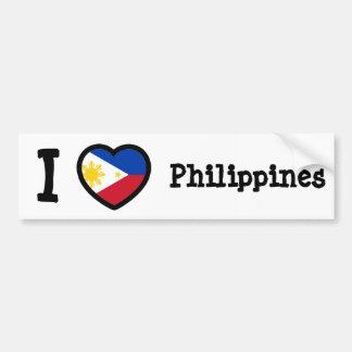 Philippines Flag Car Bumper Sticker