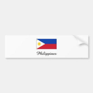Philippines Flag Design Bumper Sticker