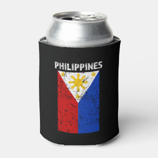 Philippines Flag -Distressed can cooler