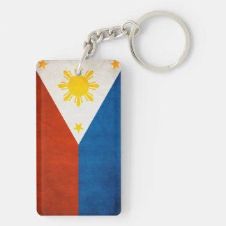 Philippines Flag Double-Sided Rectangular Acrylic Key Ring
