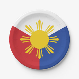 Philippines Flag Elements 7 Inch Paper Plate