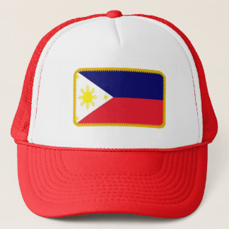 Philippines flag embroidered effect hat