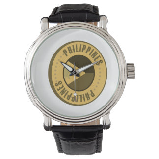 Philippines Flag Gold Coin Watch