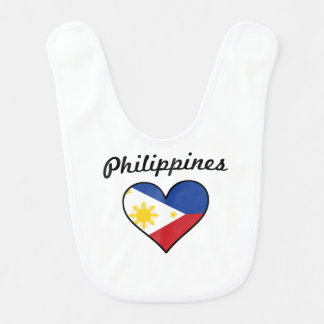 Philippines Flag Heart Bib