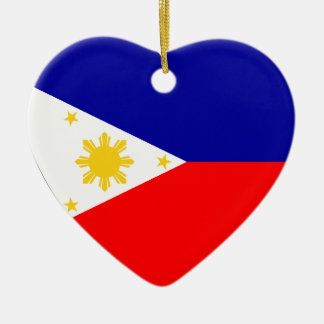Philippines Flag Heart Christmas Ornament