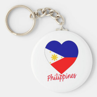 Philippines Flag Heart Key Ring