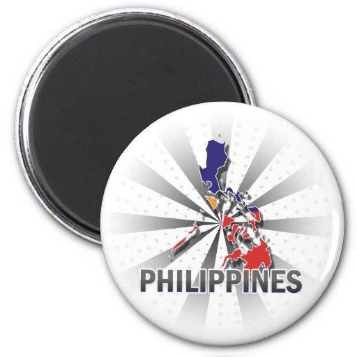 Philippines Flag Map 2.0 Fridge Magnets