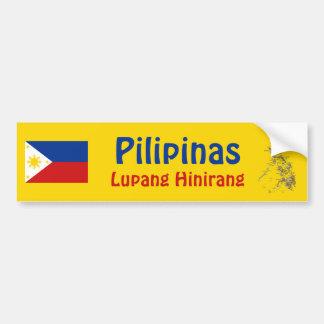 Philippines Flag + Map Bumper Sticker