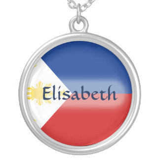 Philippines Flag + Name Necklace