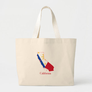 Philippines flag over California state map Jumbo Tote Bag