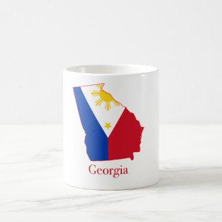 Philippines flag over Georgia state map mug
