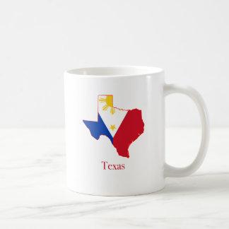 Philippines flag over Texas state map Coffee Mug