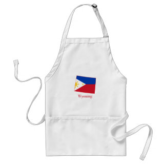 Philippines flag over Wyoming state map Standard Apron