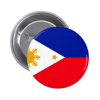 Philippines Flag Pinback Buttons