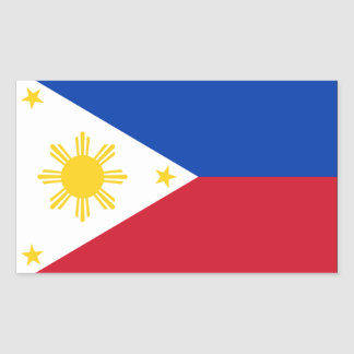Philippines Flag Rectangular Sticker
