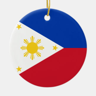 Philippines Flag Round Ceramic Decoration