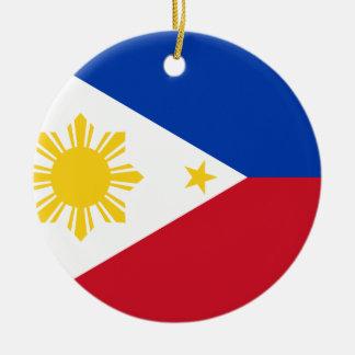 Philippines Flag Round Ceramic Decoration